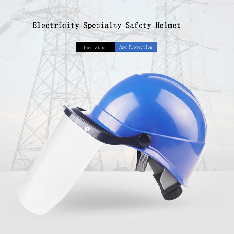 CK Tech. Electricity Specialty Safety Helmet Outdoor Working Hard Hat Construction Workplace ABS