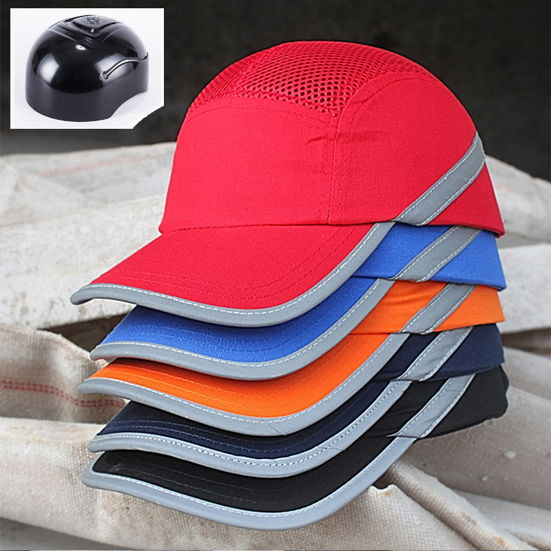 CK Tech. Sunscreen Cap Work Safety Helmet Breathable Mesh Anti-impact Light Weight Construction