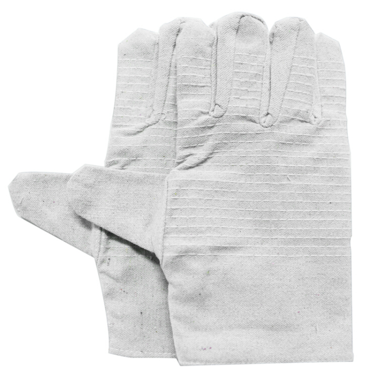 CK-Tech canvas double-line canvas gloves wear-resistant welding machine tool mechanical gloves