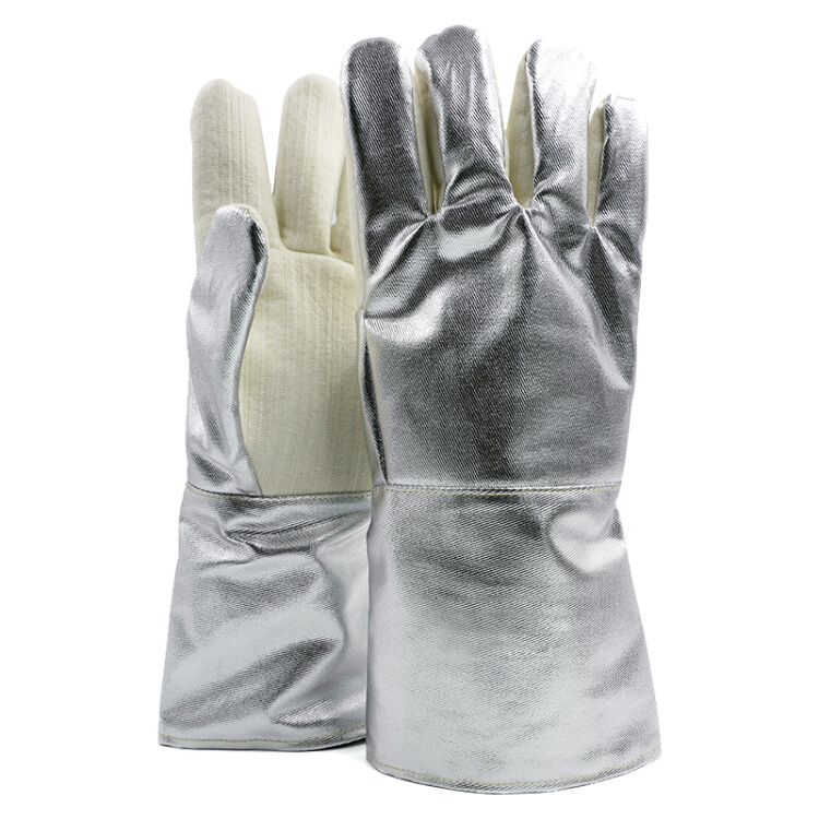 High temperature resistant gloves 36CM anti-scalding gloves 350 degree industrial heat insulation